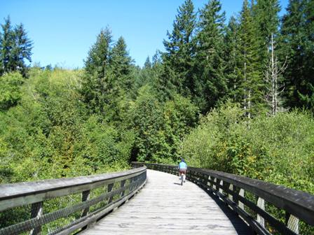Galloping Goose Bike Trail on Vancouver Island