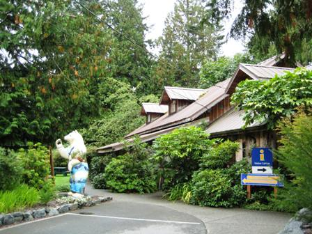 Lovely gardens and artwork surround the Sooke Visitor Centre/Museum/Art Gallery