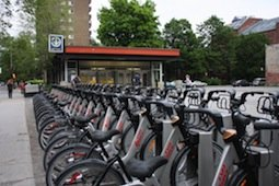 Bixis-at-Metro in Montreal Canada