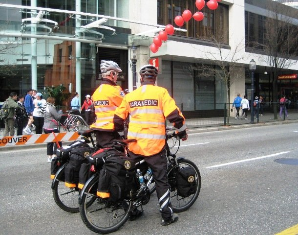 vancouver sun run. Bikes at the Vancouver Sun Run