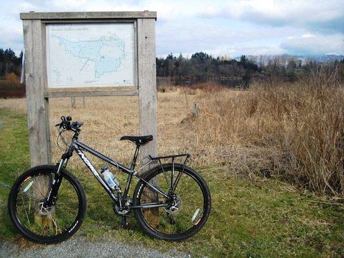 Post - Deer Lake Park sign