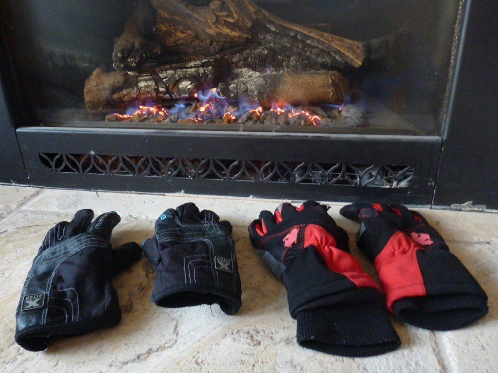 Axiom and Garneau cycling gloves