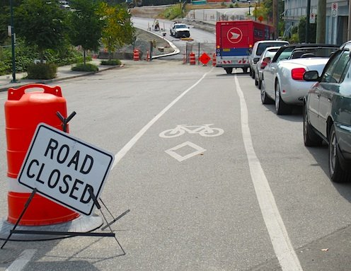 Construction companies seldom think about cyclists - Average Joe Cyclist
