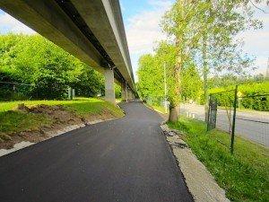 Freshly paved BC Parkway