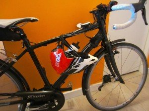 Urge Endur-O-Matic Helmet  on my  bike - Average Joe Cyclist