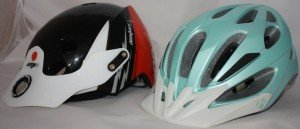 Urge Endur-O-Matic Helmet side by side with Bontrager helmet - Average Joe Cyclist