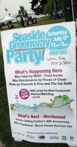 Seaside Greenway Sign for Party - Average Joe Cyclist