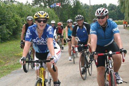 MS Bike tour cyclists