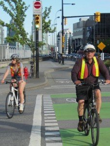 Bike commuters Vancouver