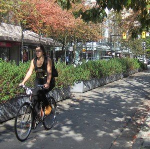Biking in Vancouver in the Fall