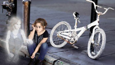 Ghost-bike-kickstarter-girl