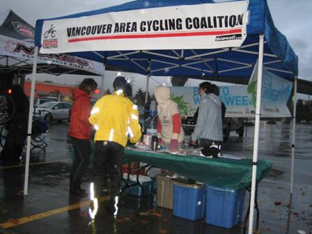 Volunteering at the VACC Bike to Work Week – in the Tail of a Hurricane!