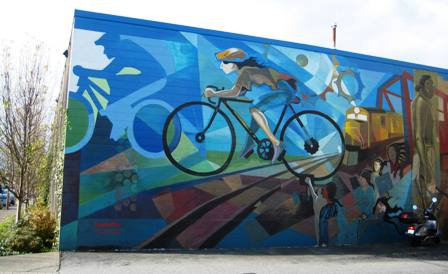 Vancouver 39 s cycling culture average joe cyclist for Mural vancouver