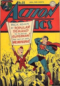 Cover of Superman comic with Mister Mxyzptlk