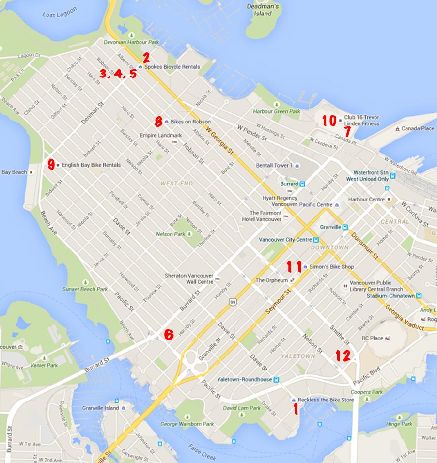 Bike Rentals Vancouver Where To Rent Bikes In Vancouver