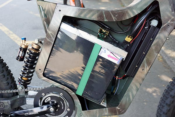That's pretty much all battery in there! Sunahme Electric Bikes