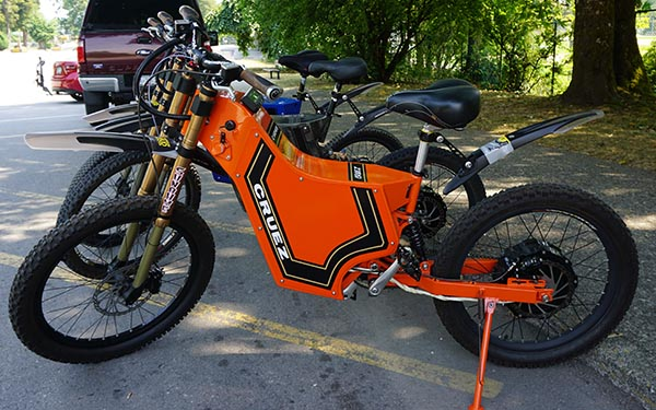 The Cruez is the smallest, lightest of the Sunahme Electric Bikes