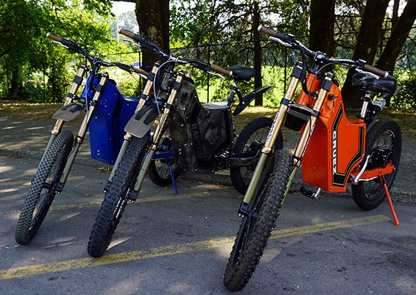 The full range of Sunahme Electric Bikes: Interceptor, Raptor, and Cruez