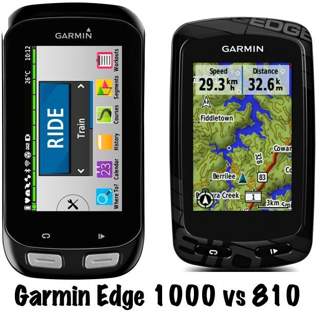 Garmin Edge 810 vs 1000