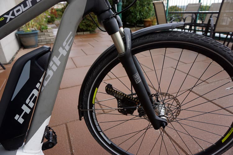 Haibike Xduro Trekking Pro Review. The Haibike Xduro Trekking Pro has Rock Shox Paragon TK shocks with 65 mm of travel
