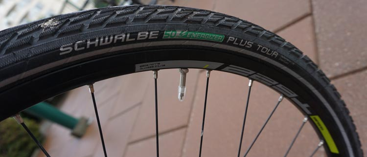 The Haibike xDuro Trekking Pro has Schwalbe Energiser Tour tires