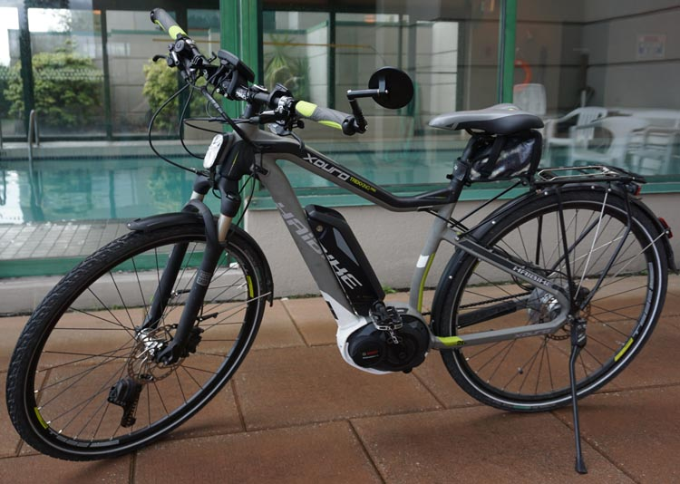 The weight of the battery and motor is low and centered on the Haibike Xduro Trekking Pro