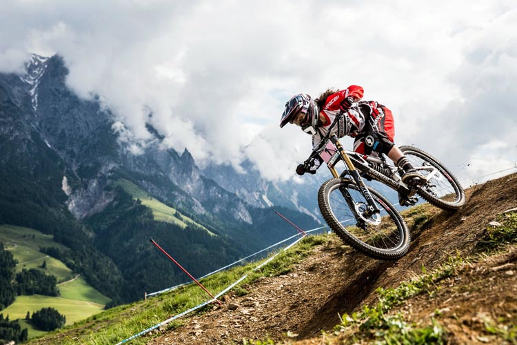 Extreme downhill mountain biking - the kind of biking some of my colleagues enjoy! Photo from Youtube - not electric bikes