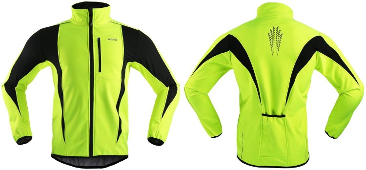 b1f8d42ac ARSUXEO Winter Warm Up Thermal Softshell Cycling Jacket