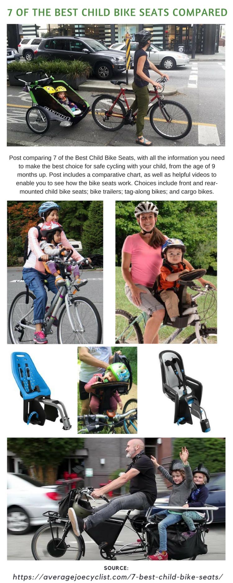 Child Bike Seat Front Mount Bicycle Safety Baby Carrier Toddler Back Padding New