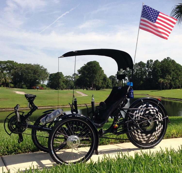 recumbent Trike with Canopy and flag in central florida 750 & recumbent Trike with Canopy and flag in central florida 750 ...