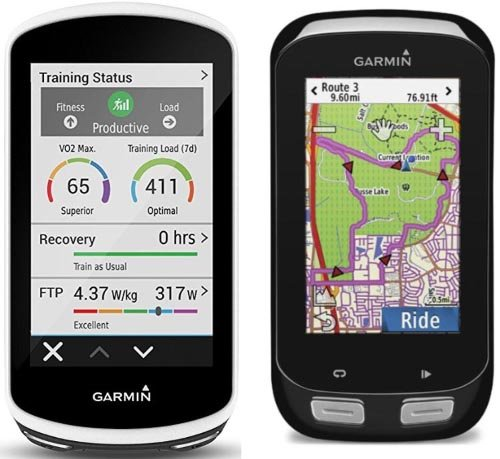 There Has Never Been a Better Time to Buy a Garmin Edge 1000. Garmin Edge 1030 on the left; Garmin Edge 1000 on the right