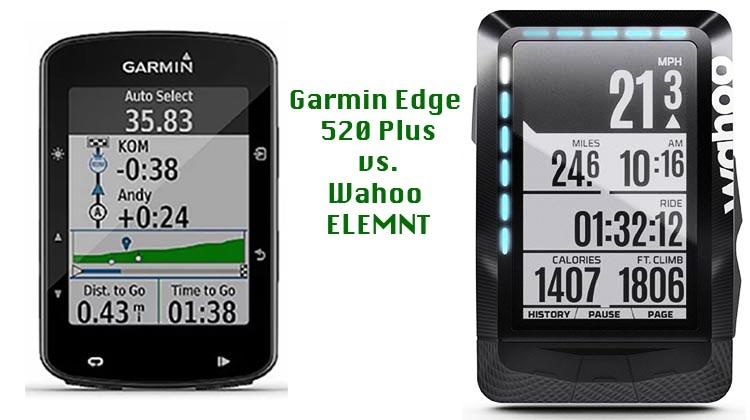 hete producten Verkooppromotie koop het beste Garmin Edge 520 Plus vs Wahoo ELEMNT