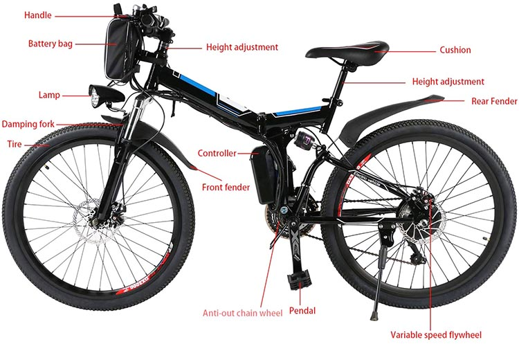 9 of the Best Cheap Electric Bikes. This mountain ebike gets great reviews, and is rated to carry riders up to 300 pounds