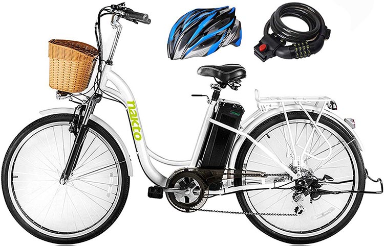 9 of the Best Cheap Electric Bikes. The Nakto ebike is stylish, and easy to mount as well