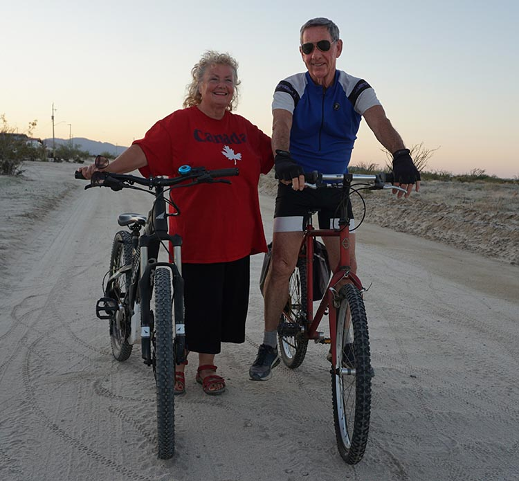 How E-Bikes Can Help Couples to Cycle Together. Amanda and Wayne are feeling the joy of being able to cycle together. Wayne rides a Gary Fisher mountain bike, and Amanda rides an electric Haibike SDuro HardSeven