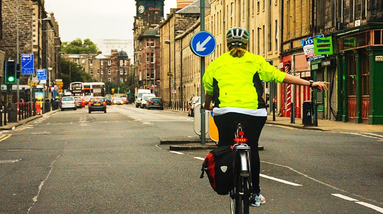 It's a big bonus to have a highly visible cycling jacket