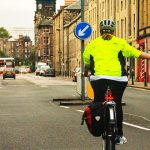 It's a big bonus to have a. highly visible cycling jacket